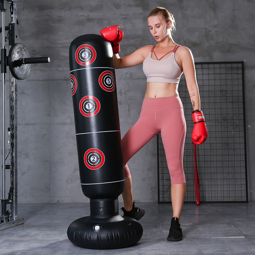 1.6M Free Standing Inflatable Boxing Punch Bag Kick MMA Training Kids Adult Toy
