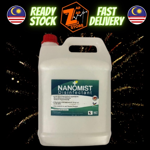 Nano Mist Fog Solution Sanitizer 5L Fogging Liquid