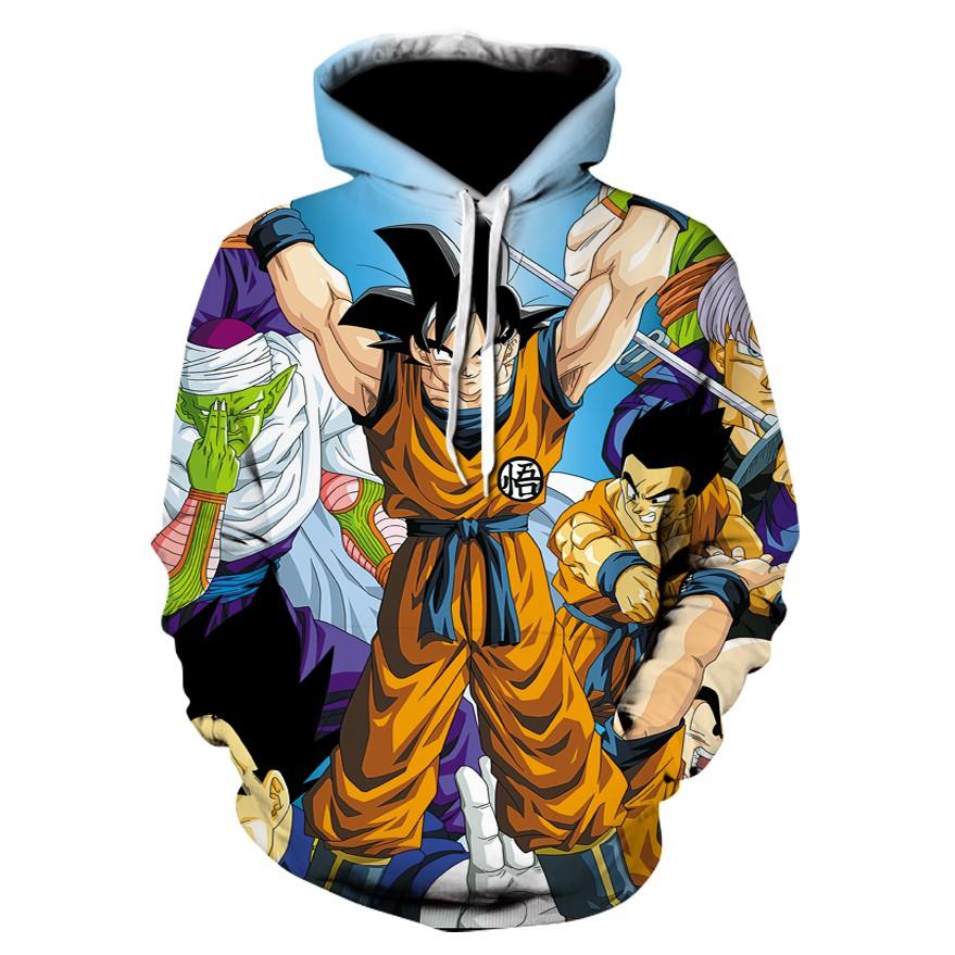 f5db6179cda7 Anime Dragon Ball Z Super Saiyan Hooded Sweatshirts Goku 3D Hoodies  Pullovers