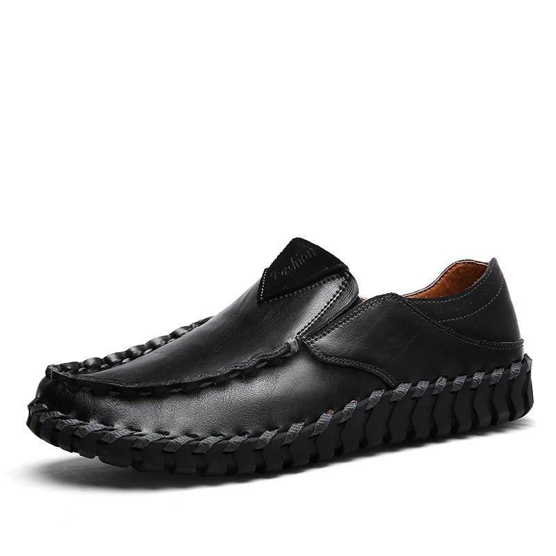 รองเท้า Slip-On สำหรับผู้ชายรองเท้าหนังแท้ Loafer