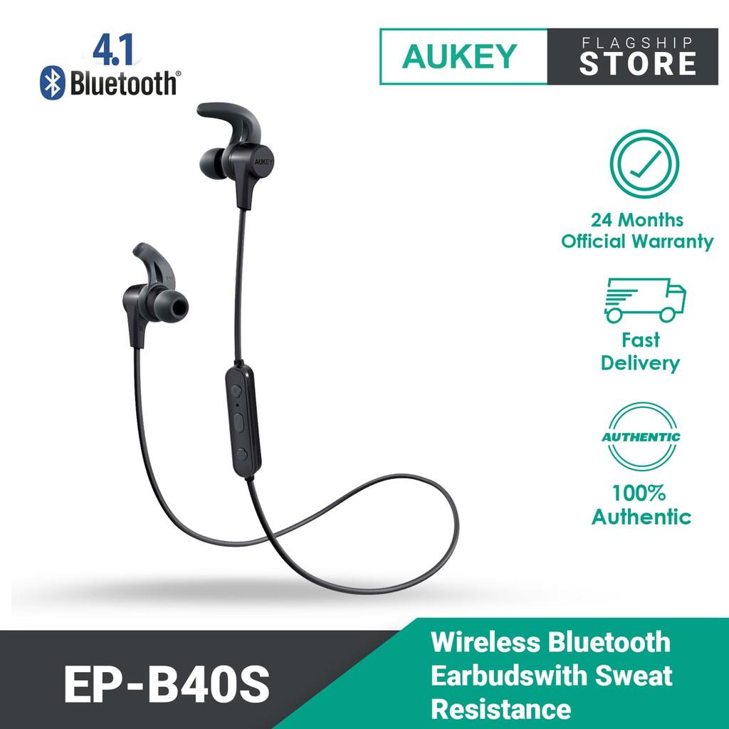 Aukey EP-B40S Latitude Wireless Bluetooth Earbuds with  BT4.1 IPX4 Sweat Resistance