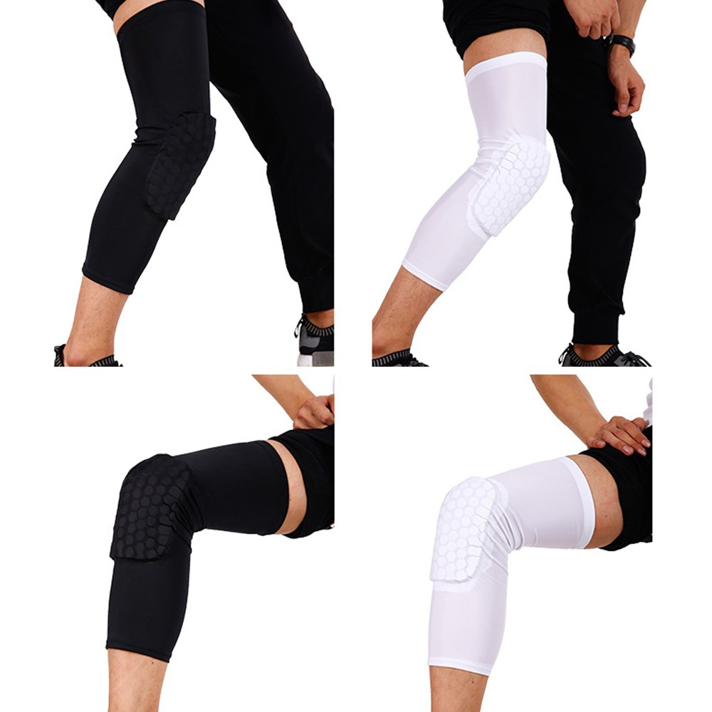 ProductImage. ProductImage. Honeycomb Knee Pad Crashproof Antislip Basketball Leg Long Sleeve Protector Gear