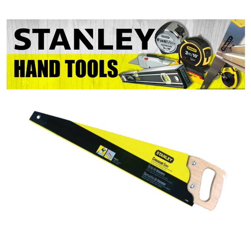 STANLEY WOOD HANDLE SAW CROSSCUT CUTTING TOOLS