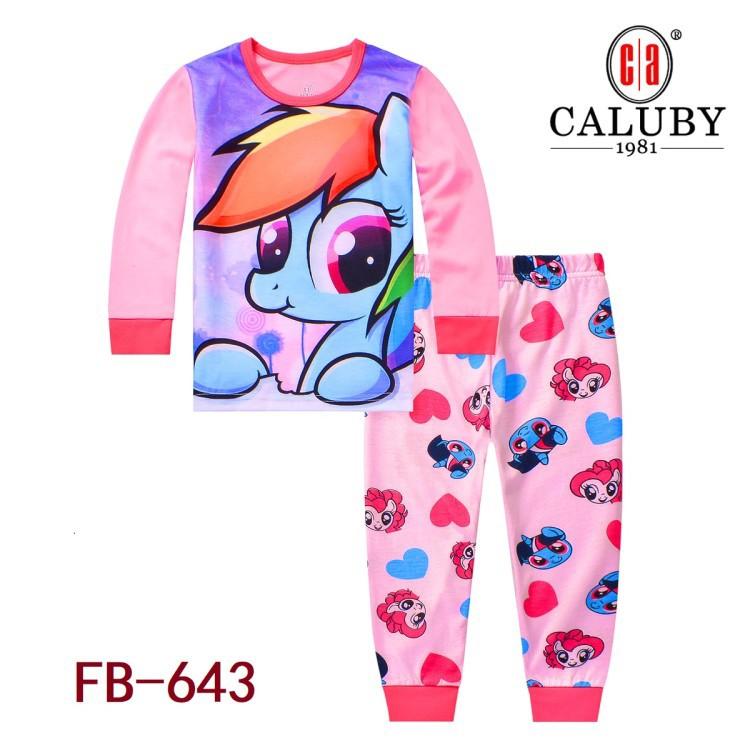 199b8905f208 Caluby Purple NANA RAINBOW Pyjamas (2Y-7Y)