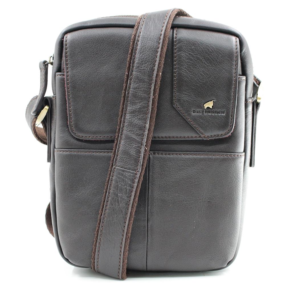 RAV DESIGN Men's Sling Bag Genuine Leather |RVC471G1