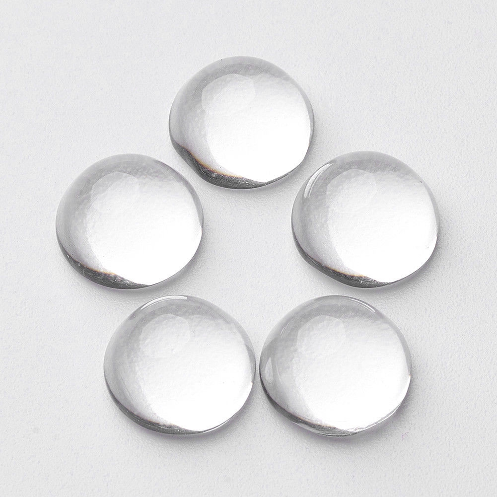 100Pcs//200pcs Clear Half Round Dome Transparent Glass Cabochons Findings Crafts