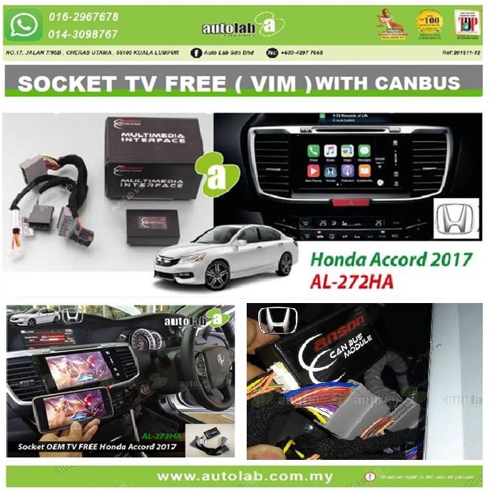 Socket TV Free (Bypass VIM) With CANBUS ANSON HONDA ACCORD 2017-2018 AL-272HA