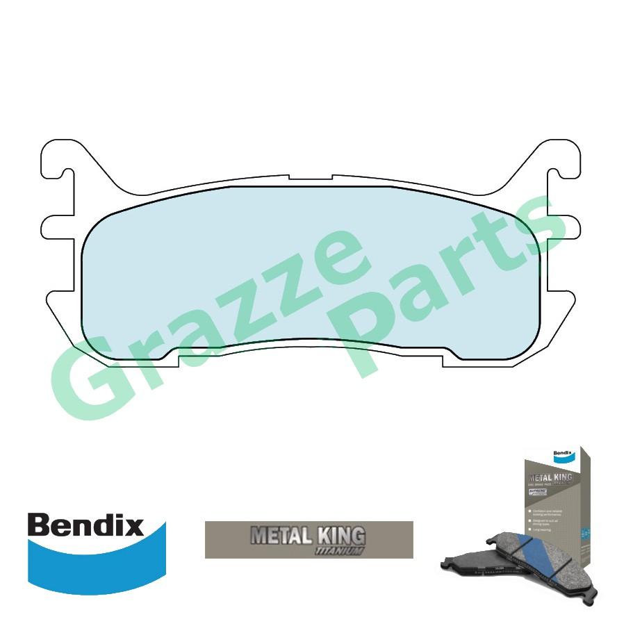 Bendix Metal King Titanium Disc Brake Pad Rear for DB1291 Ford Lynx TX3 1.8 Mazda Astina Lantis 323