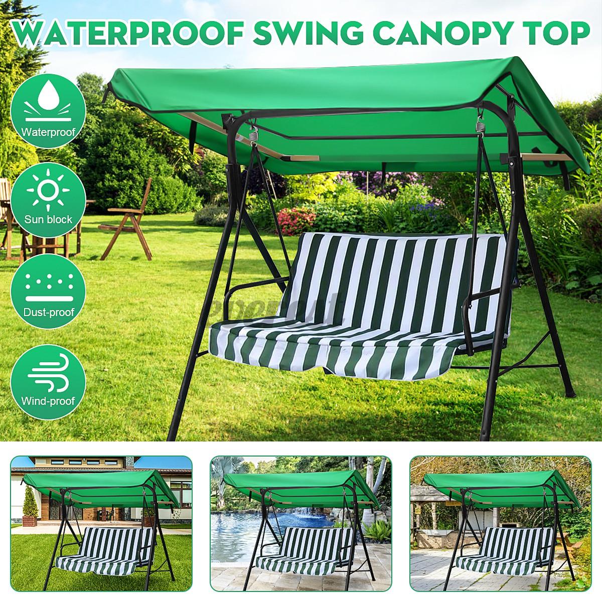 Heavy Duty Counter Stools, 2 3 Seater Hammock Swing Canopy Garden Chair Top Cover Patio Sunshade Waterproof Shopee Malaysia