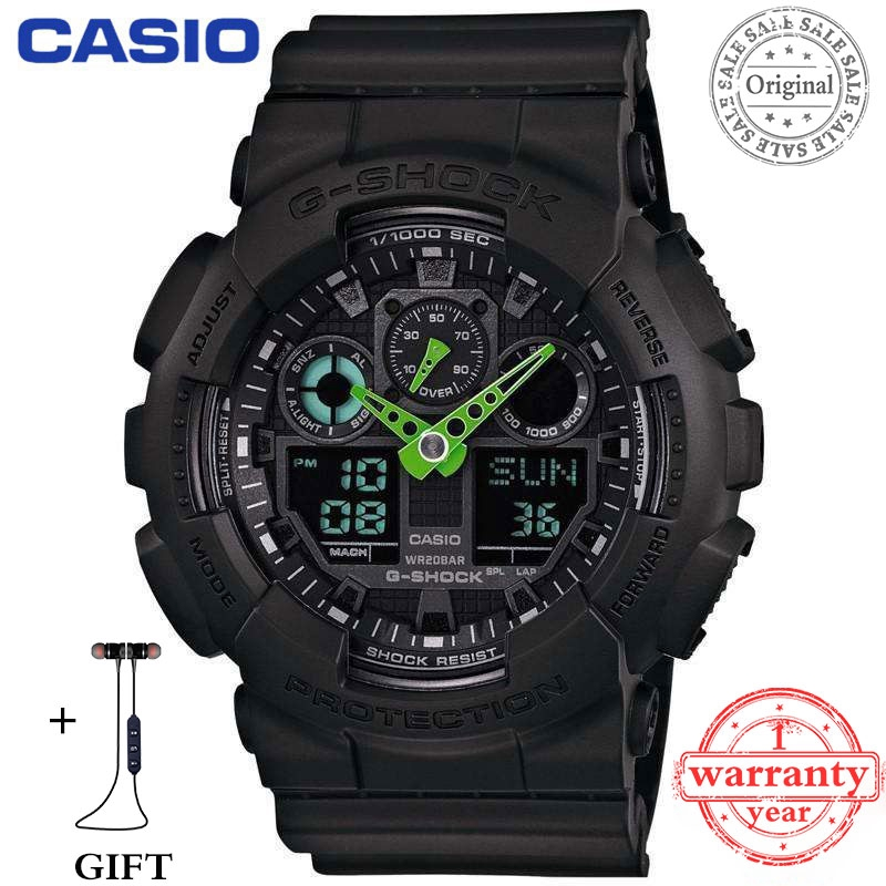 f7d46899454 (Hot Sale)Original Casio G-Shock GA110 Black Red Wrist Watch Men Sport  Watches
