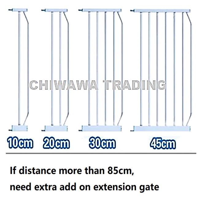 Premium Auto Lock Baby Safe Security Safety Gate Extensions ONLY
