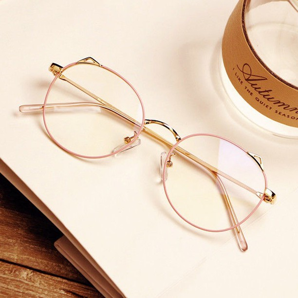 Anti-Blu-ray glasses flat mirror without degree retro personality fashion