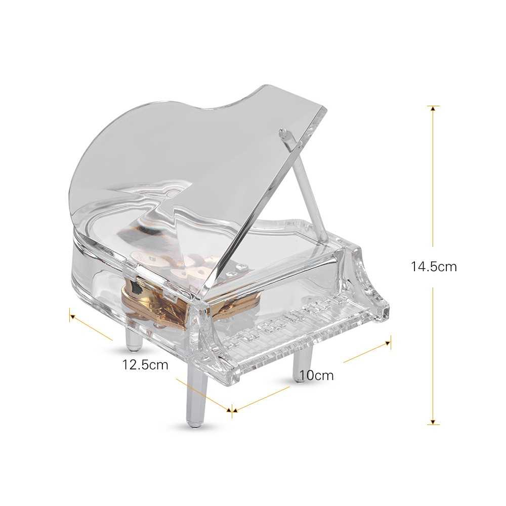Transparent Piano Music Box
