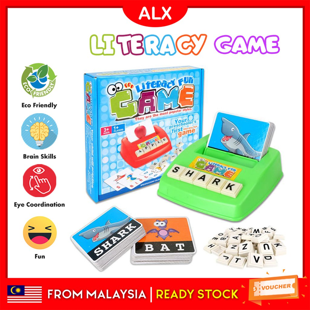 Kids Literacy English Spelling Card Early Learning Reading Fun Game