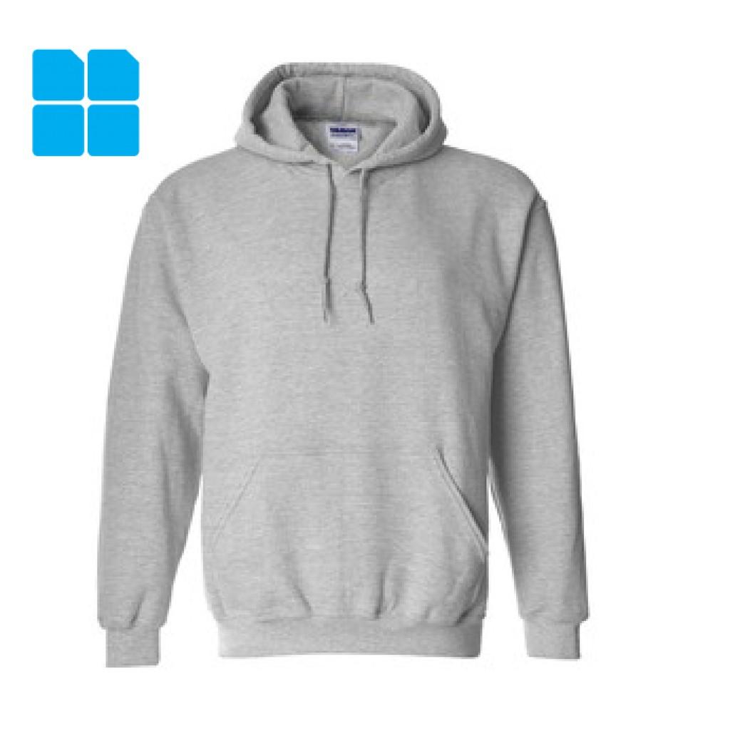 White Adult Gildan Plain Hooded Heavy Blend Pullover Sweatshirt mens hoodie tops