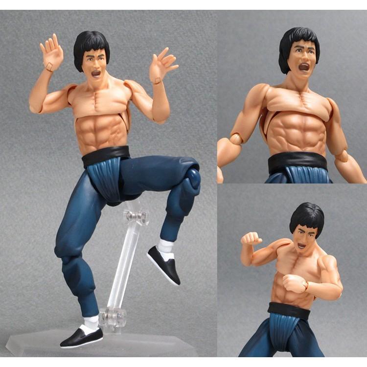 Kung Fu Bruce Lee Action Figure 1/12 scale figure Bruce Lee Statue PVC figure | Shopee Malaysia