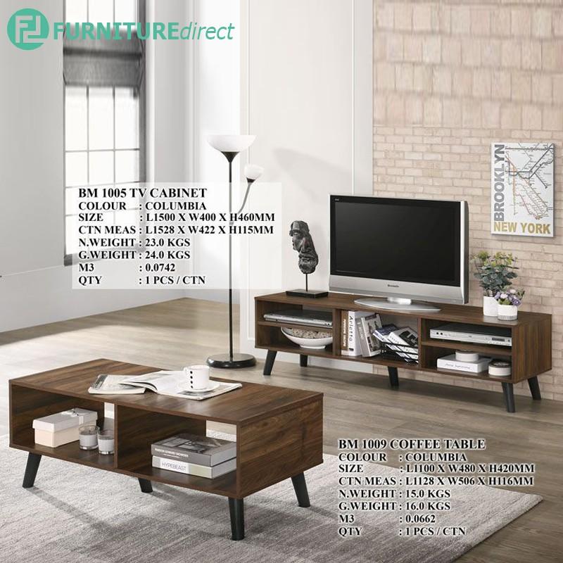 EMAN 5 FEET TV CABINET WITH COFFEE TABLE BUNDLE BM1005 BM1009