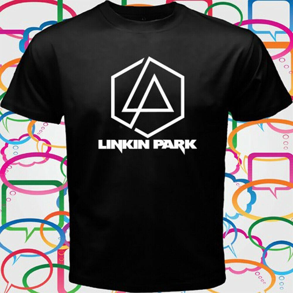 Linkin Park Alternative Rock Band Logo T Shirt 2019 Fashion Hot Men Popular Wild Cool T Black