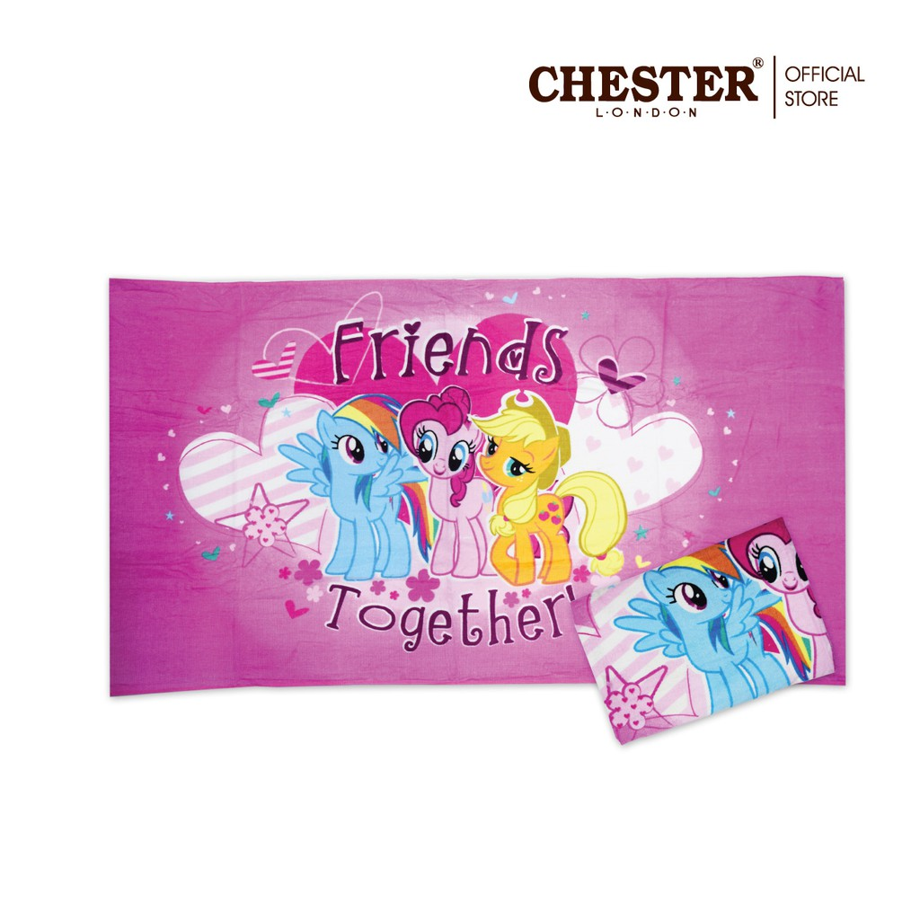 Chester London 100% Cotton My Little Pony Towel - 27'' X 54'' - Pink