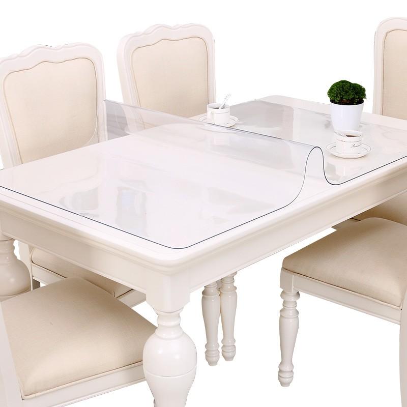 Bamboo Pavilion Soft Glass Table Mat Elegant Pattern
