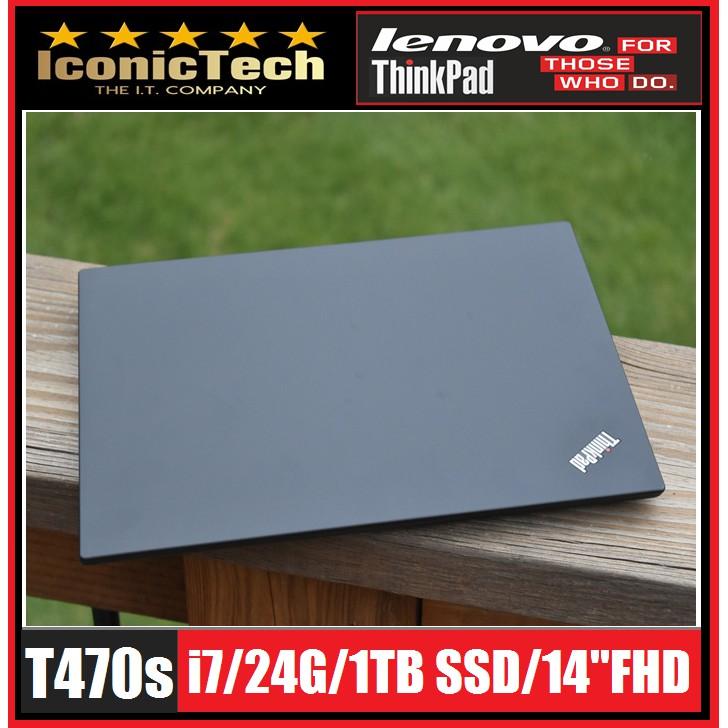 Lenovo Thinkpad T470s i7/24G/1TB-SSD Business Laptop (uSED)