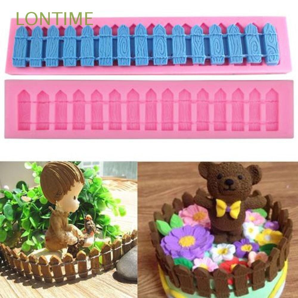 3D Fence Silicone Fondant Mold Cake Chocolate Sugarcraft Baking Mould DIY Tool