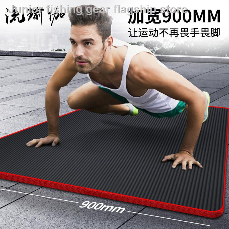Fitness Equipment○Men's Fitness Mat Beginner Yoga Thickened widens widening  extended anti-slip exercise floor to lose   Shopee Malaysia