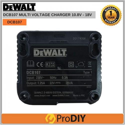 DEWALT DCB107 Multi Voltage Battery Charger 10 8v 14 4v 18v | Shopee