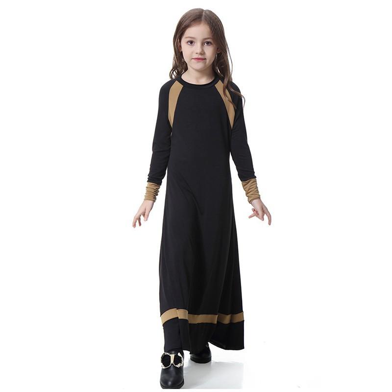 97f23530aa3a5 Kids islamic dress girl indonesia clothing arab female dress long muslim  skirts children abaya girls abaya