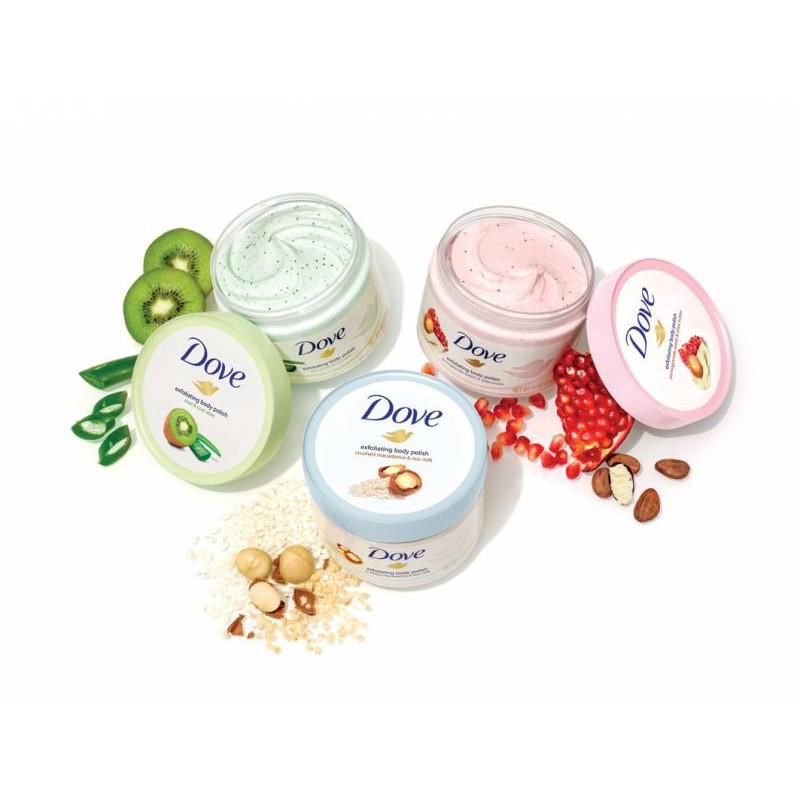 Exfoliate and nourish skin with NEW Dove Exfoliating Body Polish