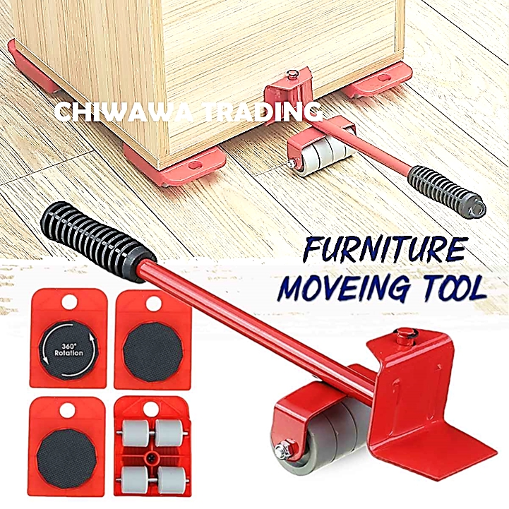 Furniture Lifter Moving Lifting System Reusable Ez Moves Forearm Forklift + 4 Pcs Wheeled Roller Mover
