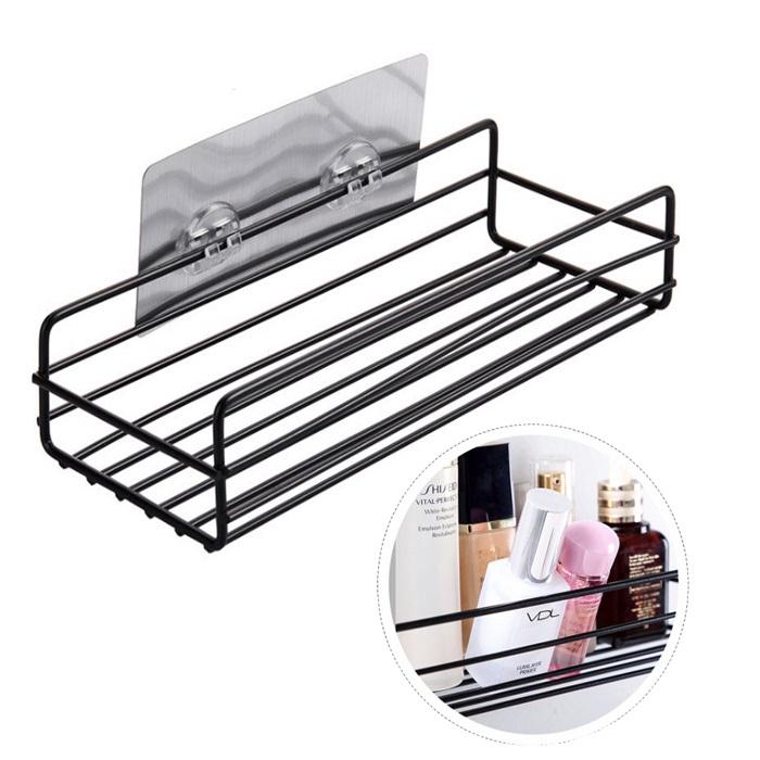 💥New💥 Rak Bathroom Shelves Storage Organizer Iron Wall Toilet Wall-mounted Free Punching