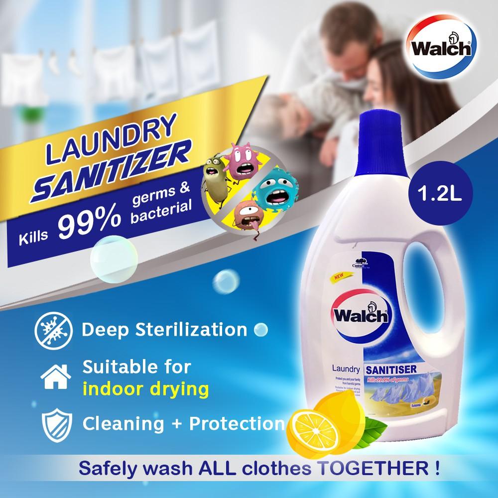 Ready Stock Walch Laundry Sanitiser Fresh Lemon 1.2L Disinfectant Anti bacteria