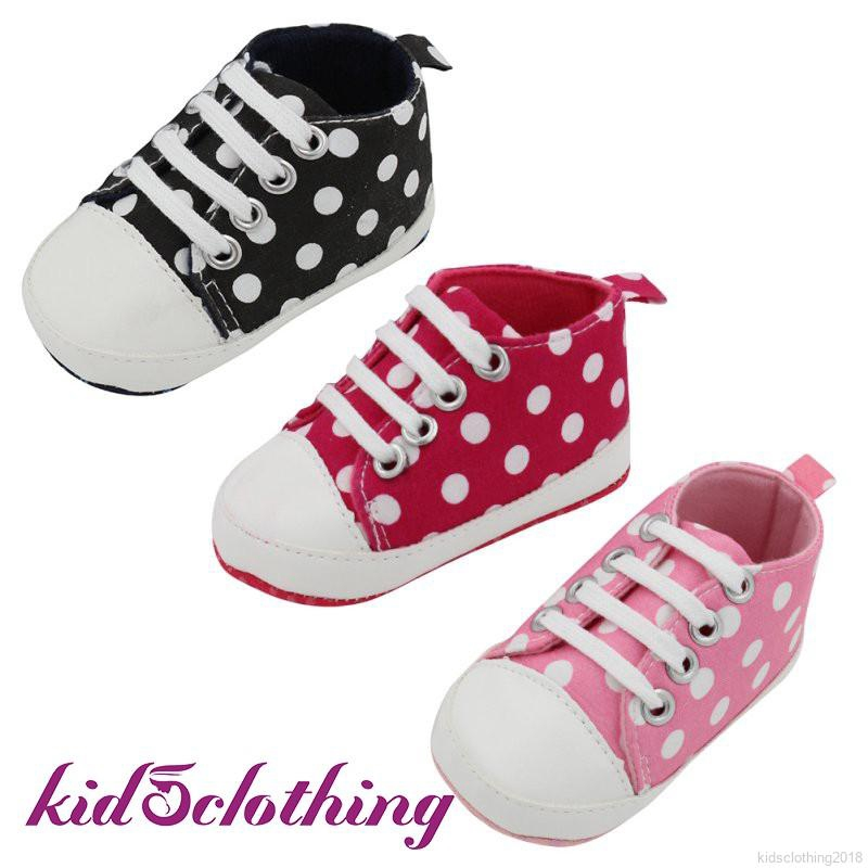 0 24M Baby Boy Girls Casual Slip On Laces Shoes First Walk Shoes