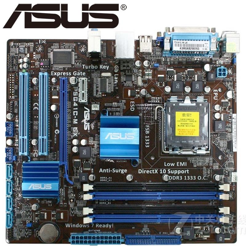 Asus P5G41C-M LX Desktop Motherboard G41 Socket LGA 775 Q8300 DDR2/3 8G u  ATX UEFI BIOS Original Used Mainboard On Sale
