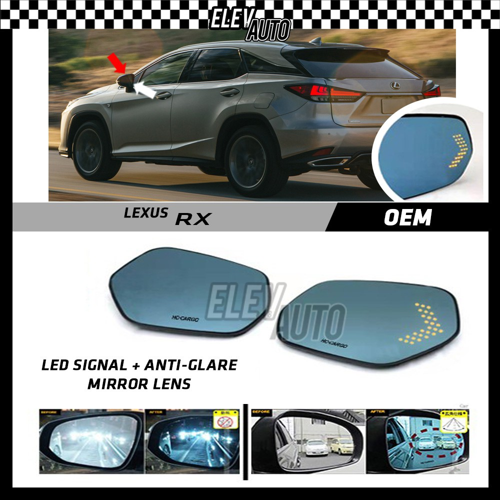 Lexus RX LED Signal with Anti Glare Side Mirror Lens