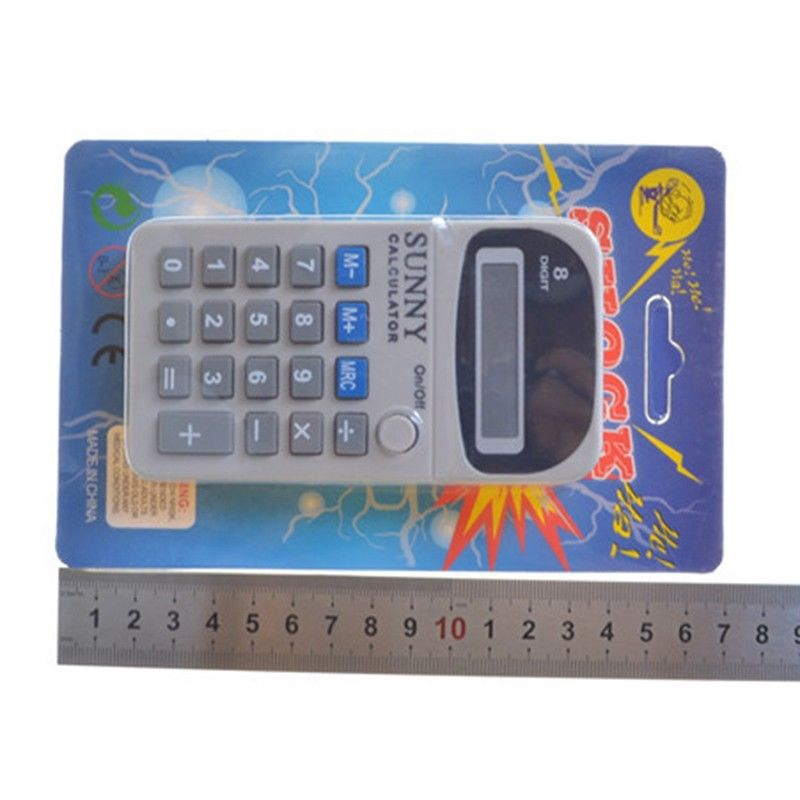 1pc Fun Electric Shock Toy Prank Calculator Office Joke Gadget Novelty Gag Gift