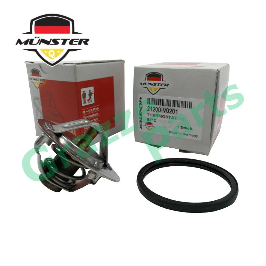 Münster Coolant Thermostat + Sealing Ring for 21200-V0201 NS Vanette C22 120Y