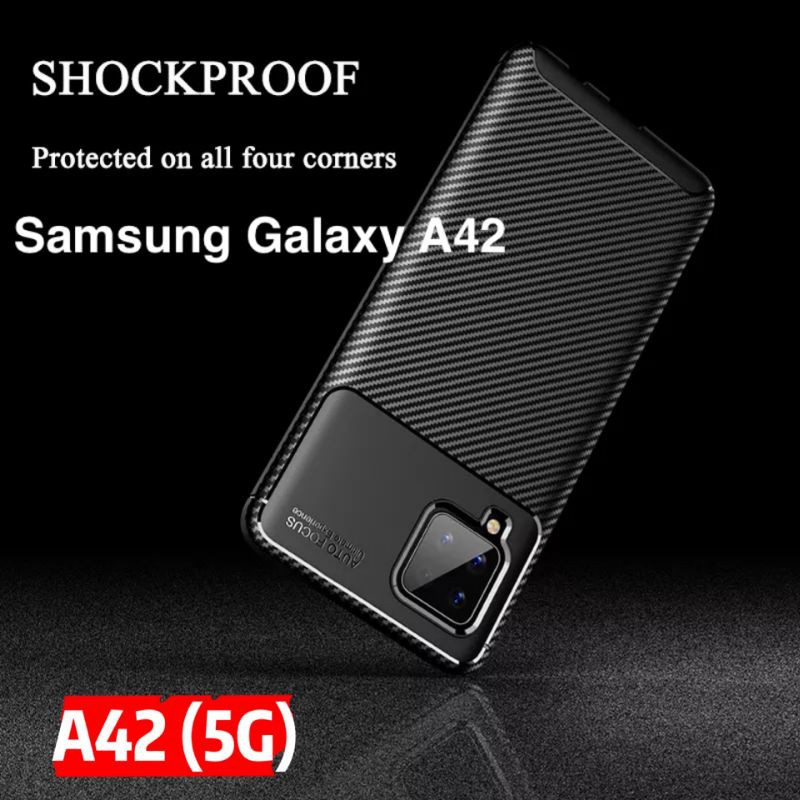 For Samsung A42 Case Cover Soft Silicone TPU Anti-knock Bumper Matte Back Cover For Samsung Galaxy A42 (5G)(READY STOCK)