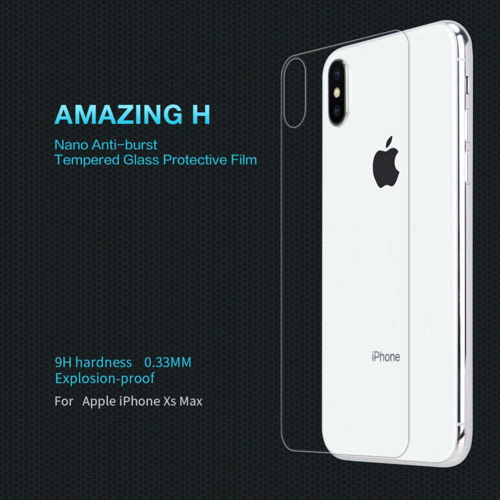 Nillkin iPhone X XS / XS Max 9H Anti-Explosion Tempered Glass Back Cover  Film