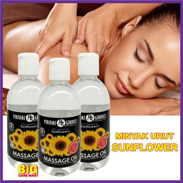 PG Sunflower Massage Oil Minyak Urut 410ml X 3bottles