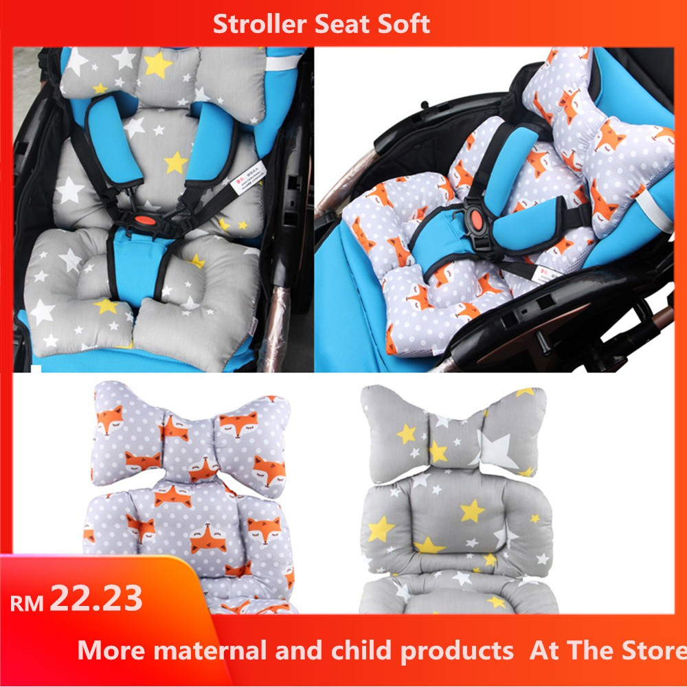 Cotton Baby Stroller Cushion Seat Cover Mat Breathable Soft Car Pad Pushchair Urine Pad Liner Cartoon Star Mattress Baby Cart Mother & Kids Strollers Accessories