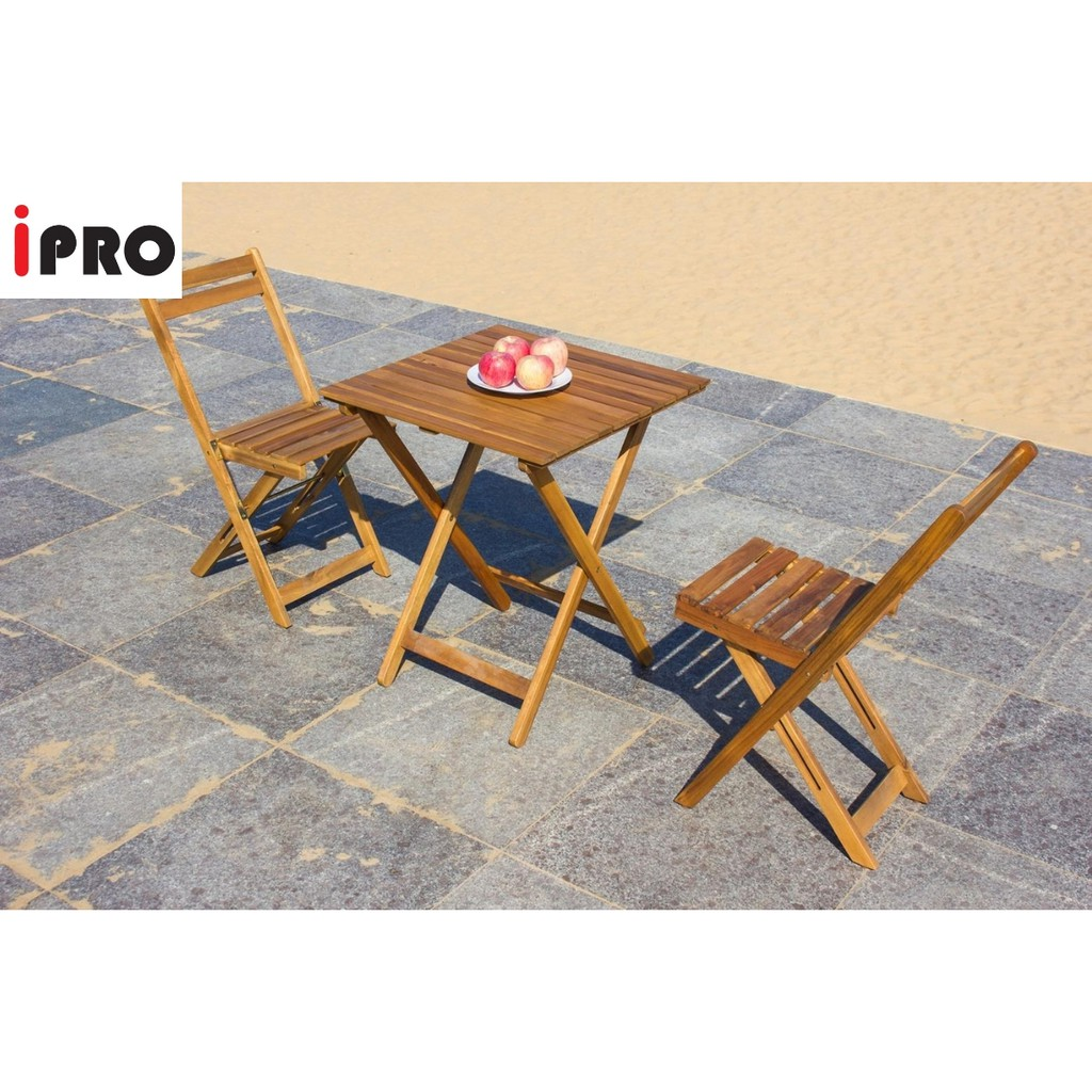 - IPRO Wooden Dining Table Coffee Table / Table & Chair Set Meja