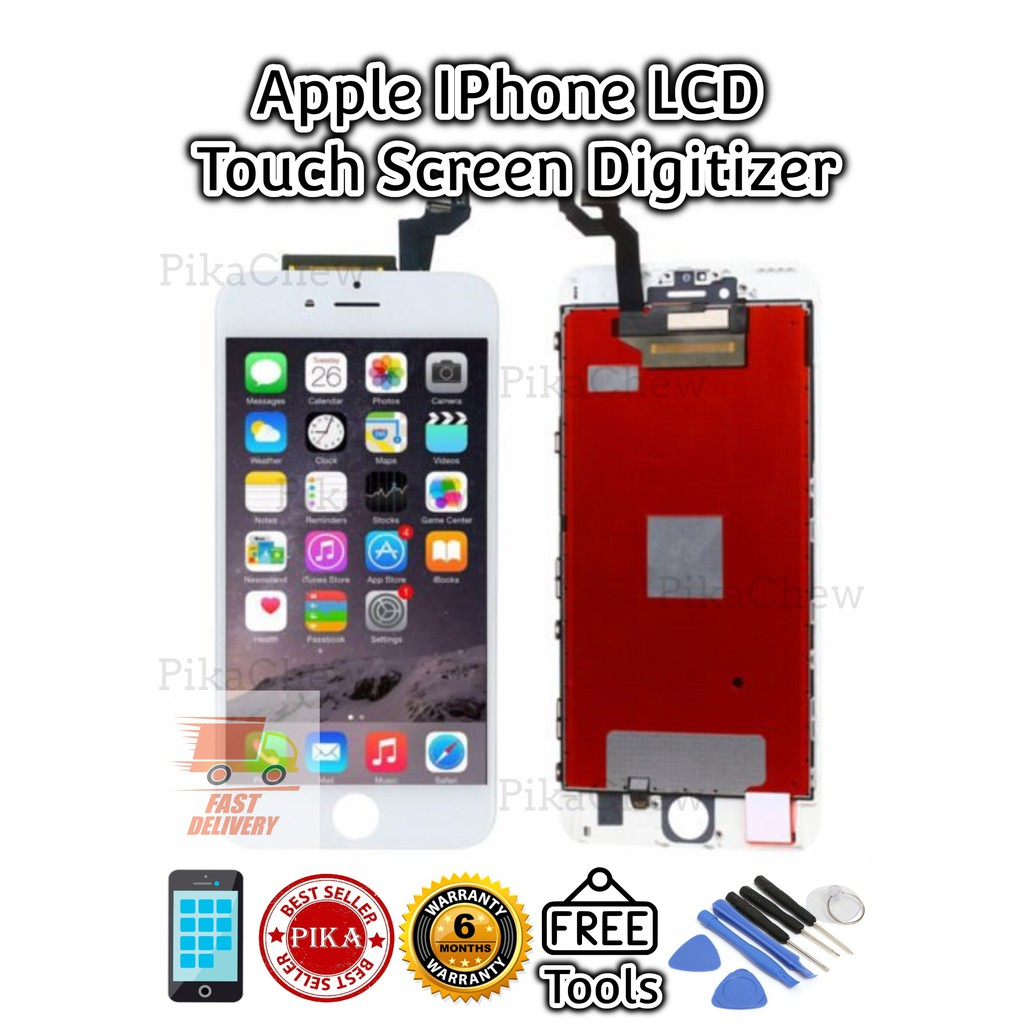 『PIKA』IPHONE 4G/ 4S/ 5G/ 5S/ 6G/ 6Plus/ 6S/ 6SPlus/ 7G/ 7Plus/ 8G/ 8Plus  LCD TOUCH SCREEN DIGITIZER IPhone Lcd