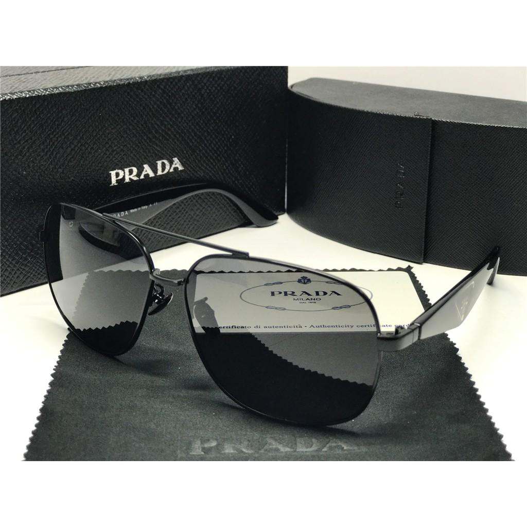 72acb7359f7af Sunglasses Prada Sport Polarized SPR-550-1AB-1A1 Black Gold Gray Lens