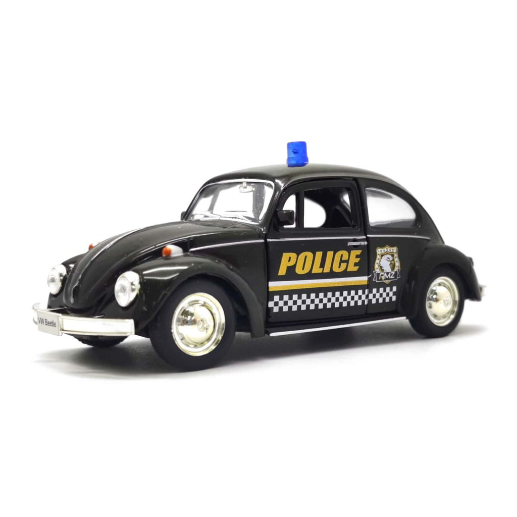 RMZ 1:32-1:36 METAL DIE CAST 1967 VOLKSWAGEN CLASSICAL BEETLE POLICE CAR MODEL COLLECTION 554017P