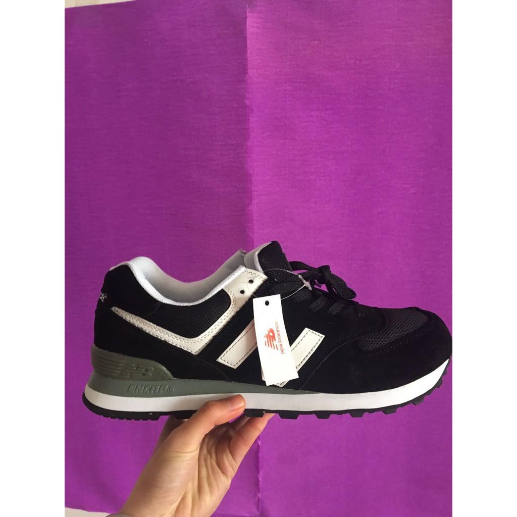 online store 0eb02 826d8 original new balance 574 nb574 black white running sport shoe for men  women36-44
