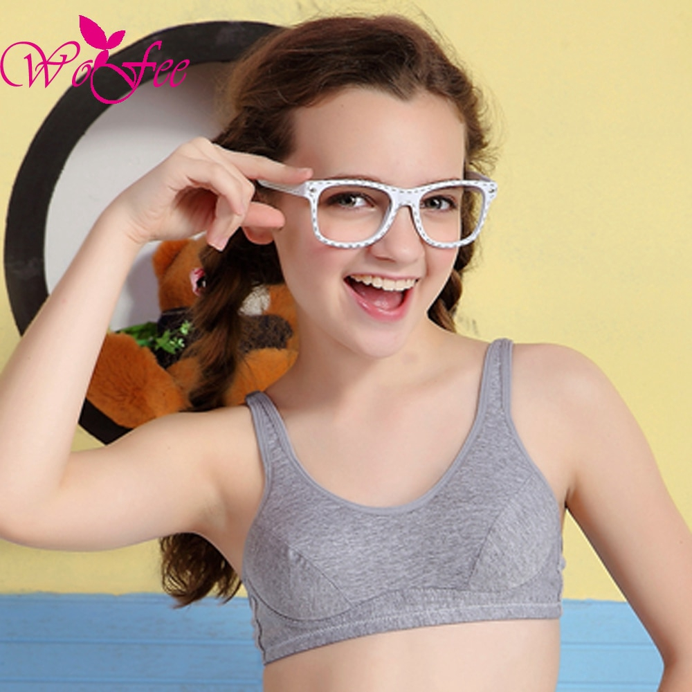 dce32e3b05 B369 Tsfit-Land Young Girls Training Bra 100% Cotton Hasp Wireless Young  Girl