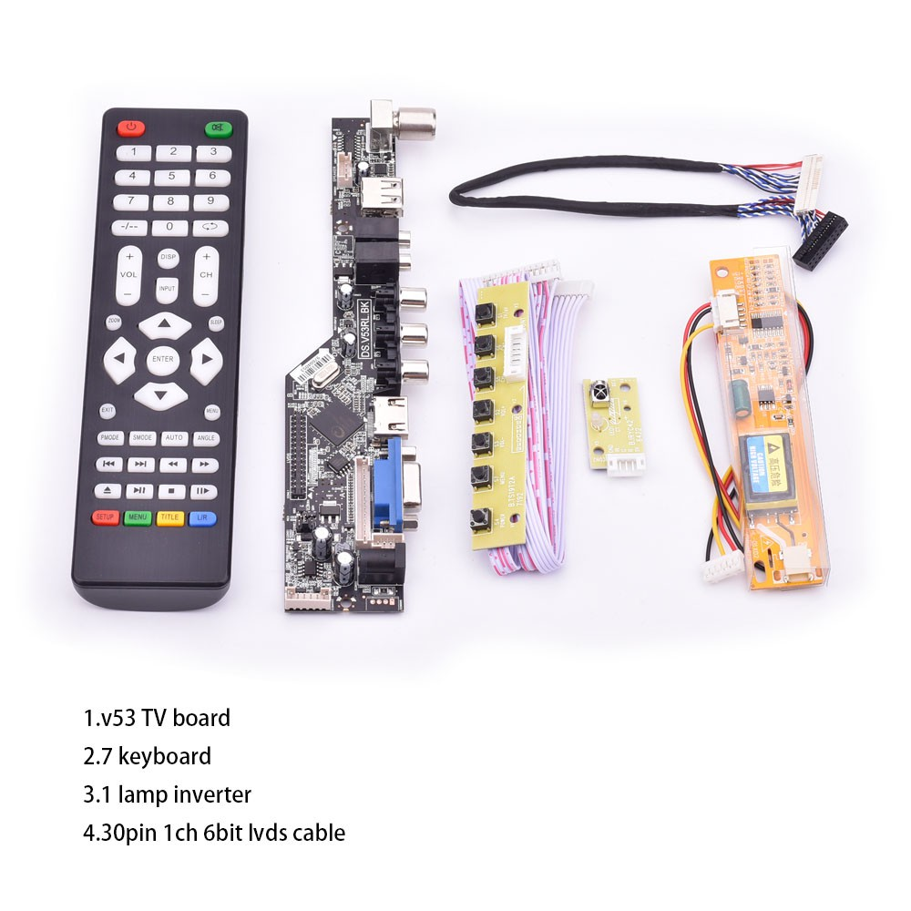 LCD screen Controller Driver Board lvds Kit For B154EW04 V.2 TV+HDMI+VGA+USB