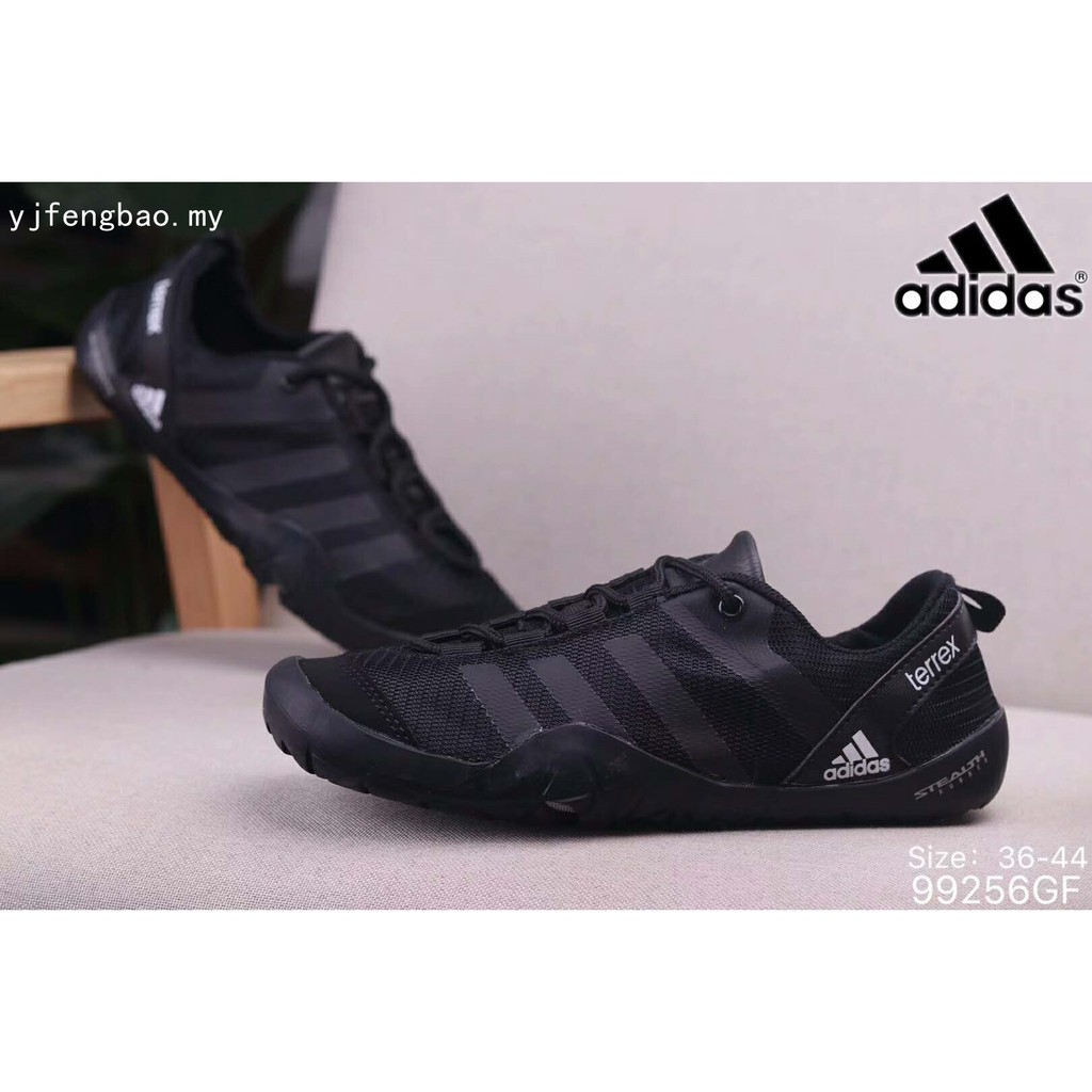 newest b55f6 0b80e Men woman casual black shoes Adidas TERREX climacool JAWPAW LACE Upstream  shoes